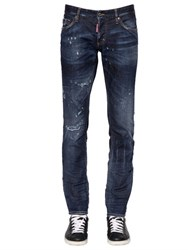 Dsquared 18Cm Slim Officer Stretch Denim Jeans