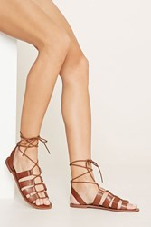 Forever 21 Faux Leather Gladiator Sandals