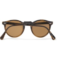 Oliver Peoples Gregory Peck Acetate Round Frame Sunglasses Brown