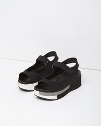 Marni Neoprene Strap Wedge Coal