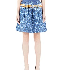 Preen Line Celine Pleated Skirt Blue