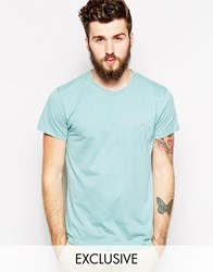 Farah T Shirt With F Logo In Slim Fit Exclusive Mint Leaf Green