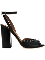 Scanlan Theodore Studded Block Heel Sandals Black