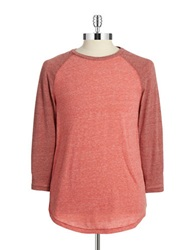 Lucky Brand Raglan Baseball Tee Red