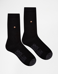 Levi's Regular Cut Socks In 2 Pack Black