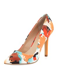 Charles By Charles David Sweetness Floral Pointed Toe Pump Orange