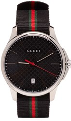 Gucci Silver And Black G Timeless Watch