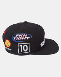 10.Deep Final Lap Snapback Hat Black