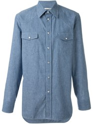 Marc Jacobs Chambray Shirt Blue