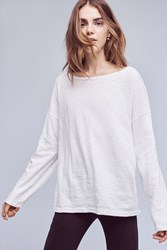 Anthropologie Cp Shades Boatneck Tee White