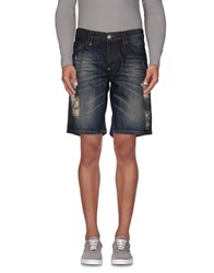 Philipp Plein Homme Denim Denim Bermudas Men Blue