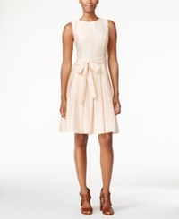 Tommy Hilfiger Bow Fit And Flare Dress Nude