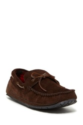 Gold Toe Lacing And Grommet Fleece Lined Slipper Brown
