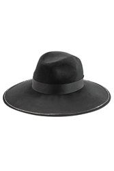 The Kooples Wide Brim Fedora Black