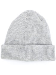 Norse Projects Ribbed Beanie Hat Grey