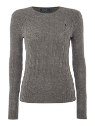 Polo Ralph Lauren Julianna Cable Wool Crew Neck Jumper Grey
