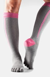 Women's Toesox Knee High Compression Sport Socks 4Am Flush
