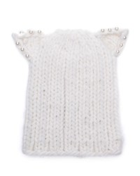 Eugenia Kim Knit Hat W Cat Ears White