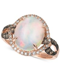 Le Vian Chocolatier Opal 2 1 3 Ct. T.W. Chocolate Diamonds And Vanilla Diamonds 1 2 Ct. T.W. Ring In 14K Rose Gold White