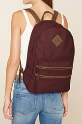 Forever 21 Faux Leather Trimmed Backpack