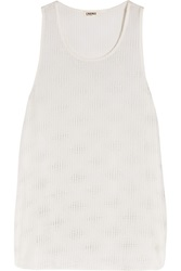 L'agence Studded Silk Tank White