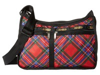 Le Sport Sac Deluxe Everyday Bag Cozy Plaid Red Cross Body Handbags