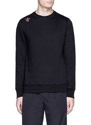 Tim Coppens Bird And Mask Embroidered Patch Sweatshirt Black