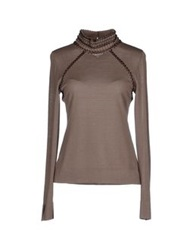 Rena Lange Turtlenecks Khaki