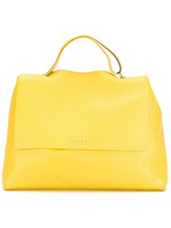 Orciani Large Tote Bag Yellow And Orange