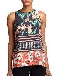 Clover Canyon Printed Keyhole Tank Top Multicolor