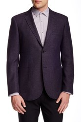 Zanetti Mauve Tic Weave Two Button Notch Lapel Modern Fit Wool Blend Sportcoat Brown