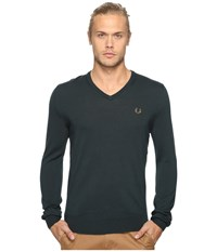 Fred Perry Classic V Neck Sweater British Racing Green Men's Sweater