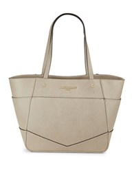 Karl Lagerfeld Saffiano Leather Tote Taupe