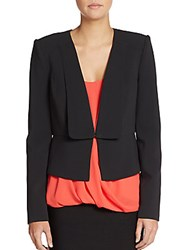 Bcbgmaxazria Fold Over Lapel Blazer Black