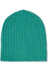 Magaschoni Ribbed Cashmere Beanie Jade