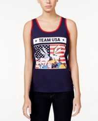 Freeze 24 7 Juniors' Looney Tunes Team Usa Graphic Tank Navy Red