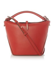 Kenneth Cole Red Small Flapover Crossbody Red