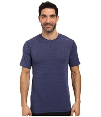 Brooks Distance Short Sleeve Heather Coast Forge Men's Short Sleeve Pullover Blue