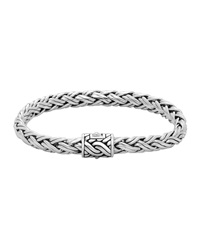 John Hardy Classic Chain Small Silver Braided Bracelet Size Medium