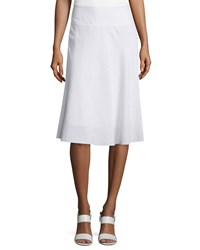 Nic Zoe Summer Fling Linen Blend Skirt Petite Paper White