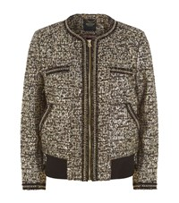 Juicy Couture Metallic Boucle Bomber Jacket Female