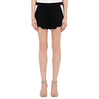 Aj Scalloped Shorts Black White