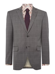 Corsivo Surano Sb2 Windowpane Check Nested Suit Grey