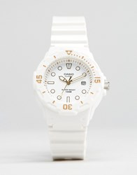 Casio Analogue Watch In White Gold Lrw200h 7E2 White