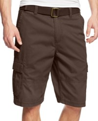 American Rag Men's Belted Relaxed Cargo Shorts Brown Bear