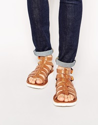Dune Leather Gladiator Sandals Tan