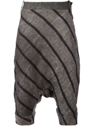 Lost And Found Striped Shorts Grey