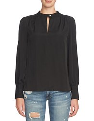 1.State Solid Long Sleeve Top Rich Black