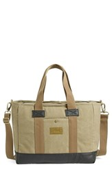 Men's Hex Convertible Tote Bag Beige Khaki