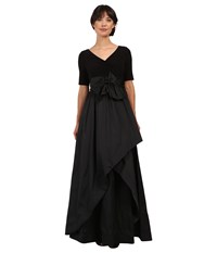 Adrianna Papell Taffeta Ball Gown Black Women's Dress
